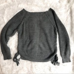 Sweaters - Off the Shoulder Knit Sweater